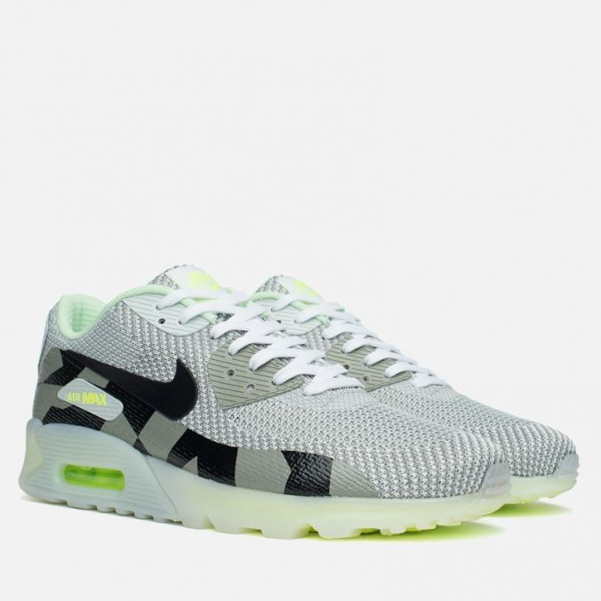 Кроссовки Nike Air Max 90 Jacquard Ice QS White/Black/Grey Article: 744553