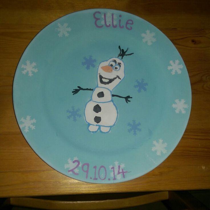 Frozen Olaf Plate