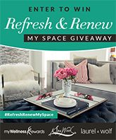 MyWellness Rewards, along with online interior designers from Laurel & Wolf, are giving you the chance to win a custom designed room this New Year! Enter to win!