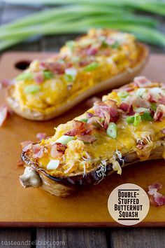 Double-Stuffed Butternut Squash | www.tasteandtellblog.com