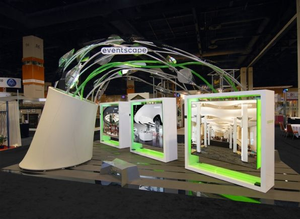 Custom Designed Exhibition Stands : Eventscape custom architectural fabrication trade