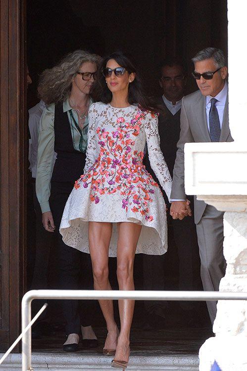 Los festejos por la boda de George Clooney y Amal en 50 imágenes