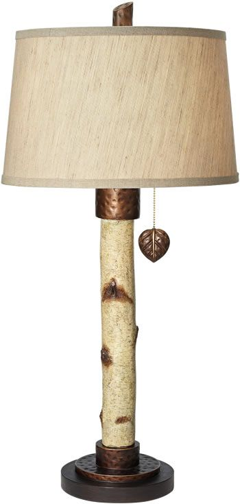 Merveilleux Pacific Coast Lighting 87 7011 48 Birch Tree Table Lamp   Rustic Table Lamps
