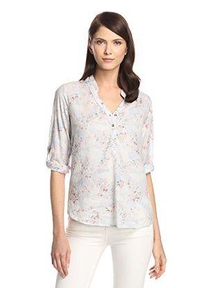 40% OFF JAK Women's Long Sleeve Shirt (Sky Blue Floral Print)