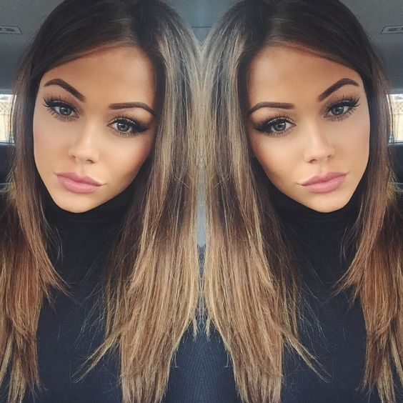 brunette ombré - Looking for Hair Extensions to refresh your hair look instantly? @KingHair focus on offering premium quality remy clip in hair