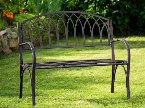 Nostalgie Gartenbank Metall Eisen Antik Stil Braun Gartenmobel Garten Park Bank Gartenbank Metall Gartenbank Gartenbank Holz