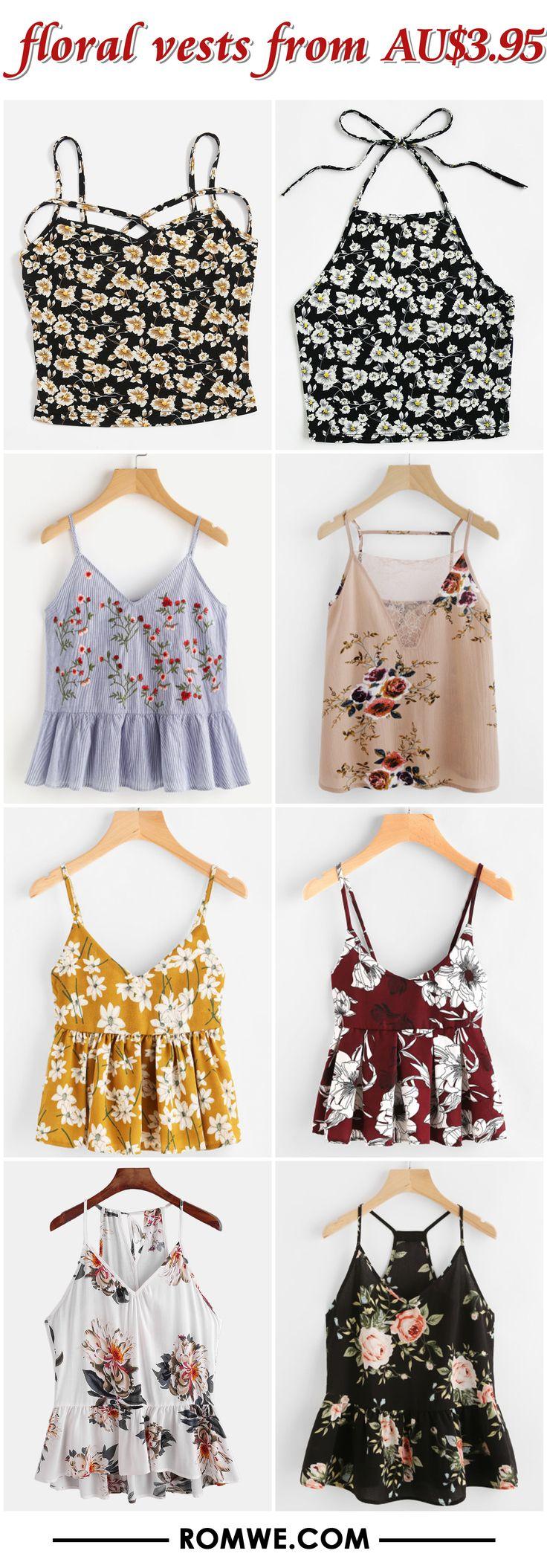 floral vests from AU$3.95