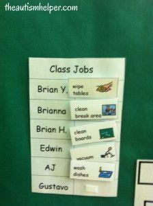 Receptive Language Visuals in an Autism Classroom by theautismhelper.com