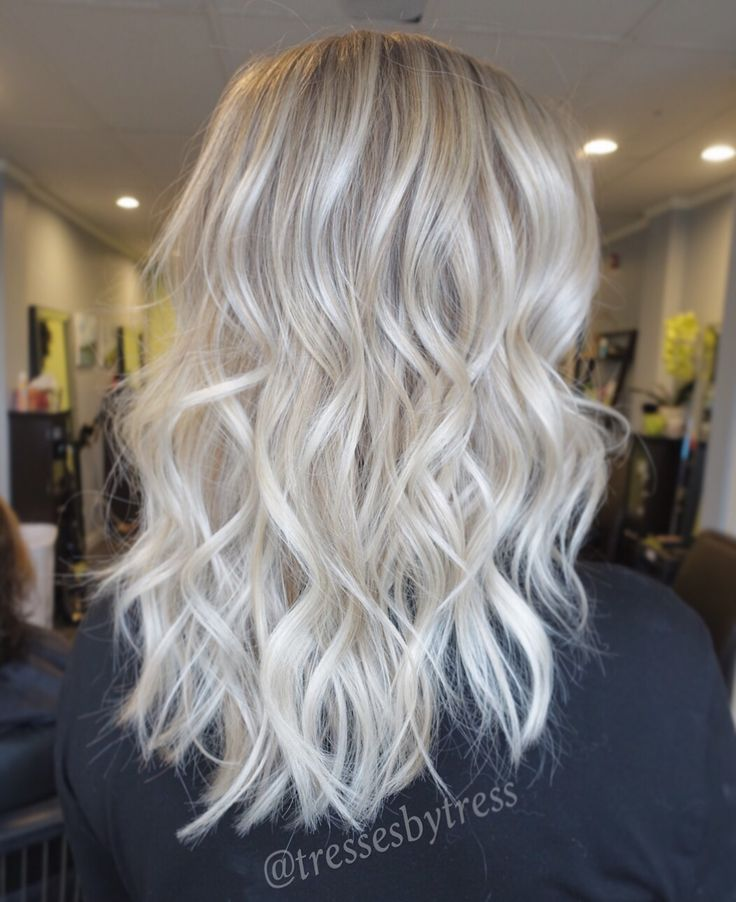 Platinum white blonde balayage