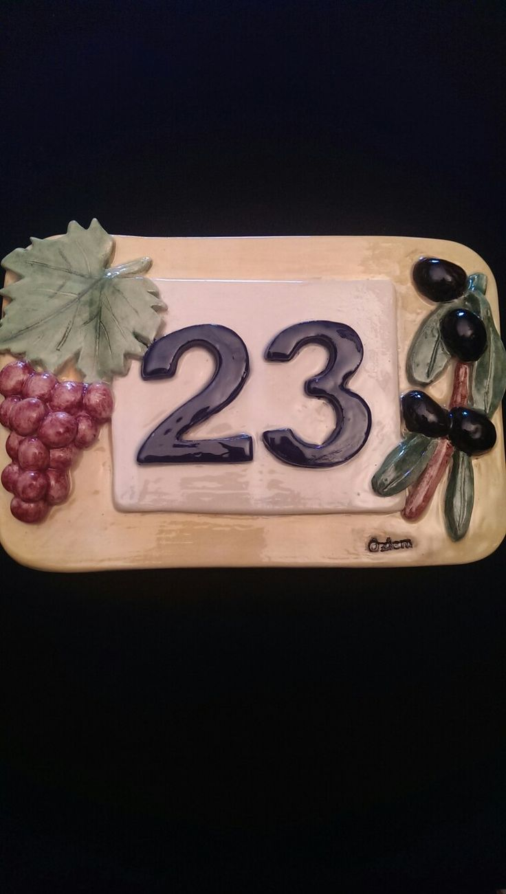 233 best ceramic house number images on pinterest concrete house number zlem menekay dailygadgetfo Gallery