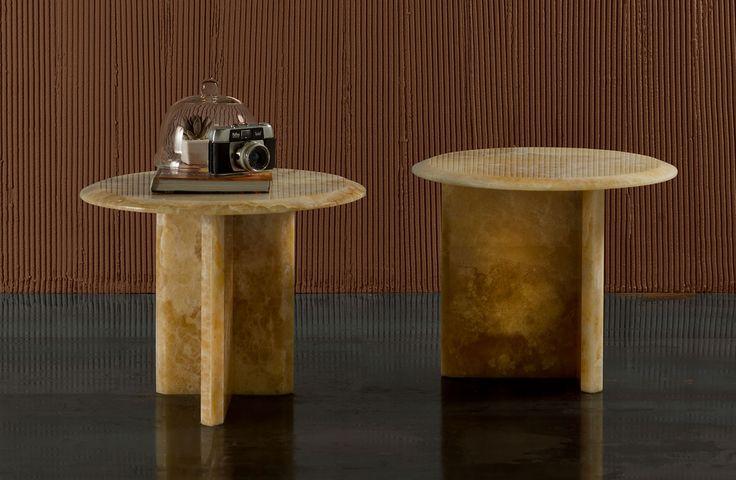 Accent stone side table Boma - AMERIGO MILANO