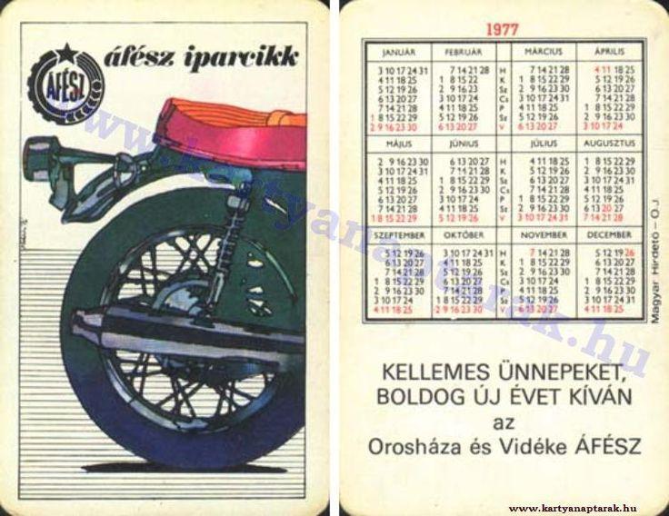 1977 - 1977_0710 - Régi magyar kártyanaptárak