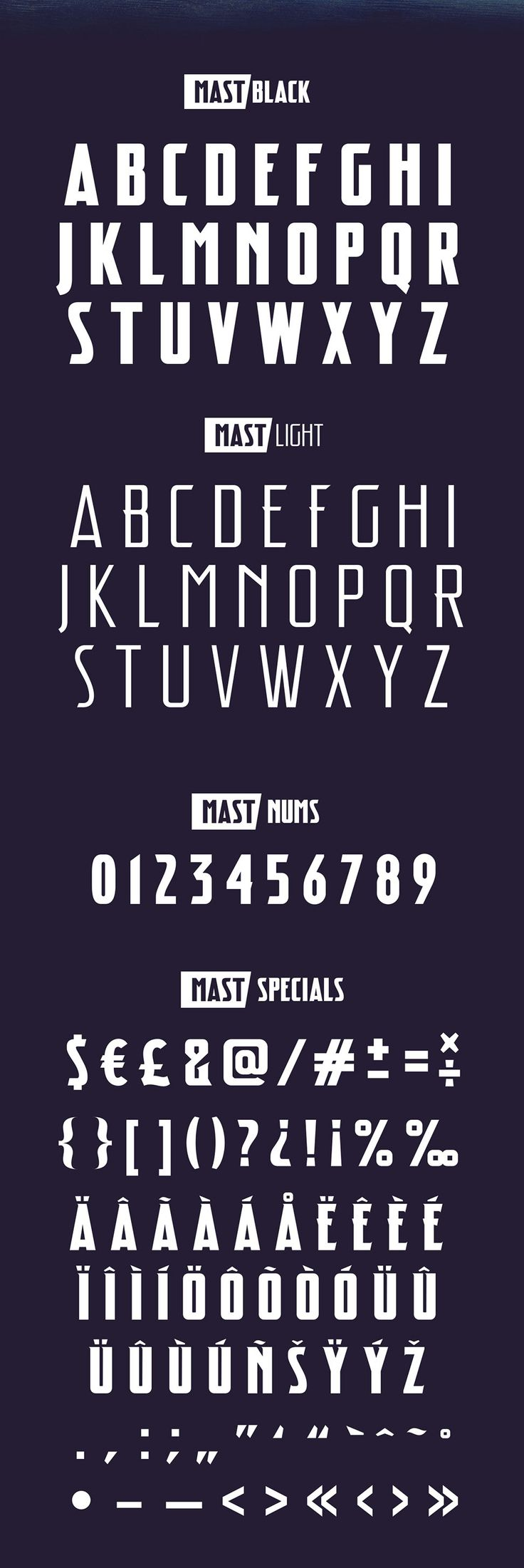 Mast Free Font Letters