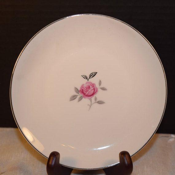Gildhar Petite Rose Salad Plate Vintage by ShellysSelectSalvage