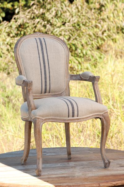 Gershwin's French Striped Arm Chair