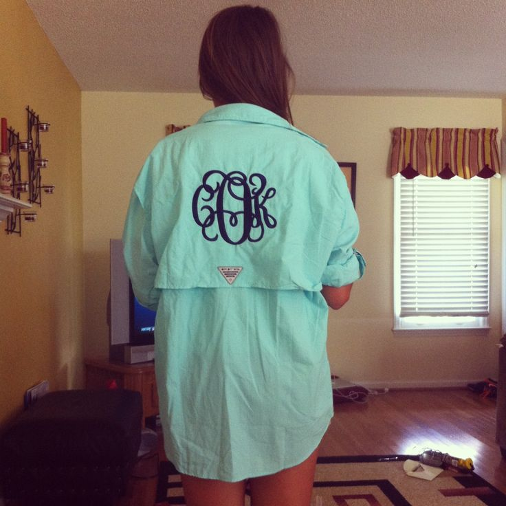 monogrammed PFG. The only PFG I would probably ever wear! Oh I want this