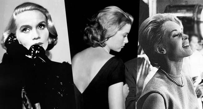 Eva Marie Saint, Grace Kelly et Tippi Hedren #50s #1950 #années50 #beauté #makeup #vintage #retro #maquillage #coiffure