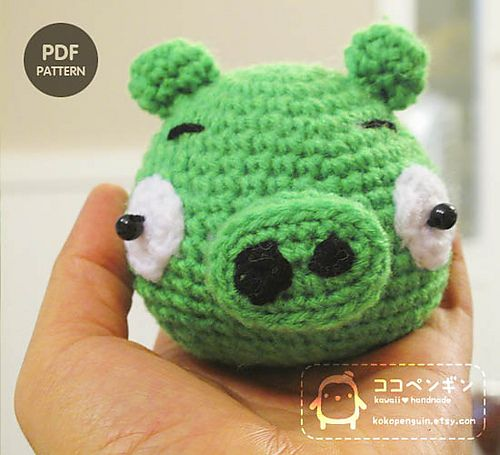 Amigurumi Cowboy Hat : The Green Pig from Angry Birds - Free Crochet Amigurumi ...