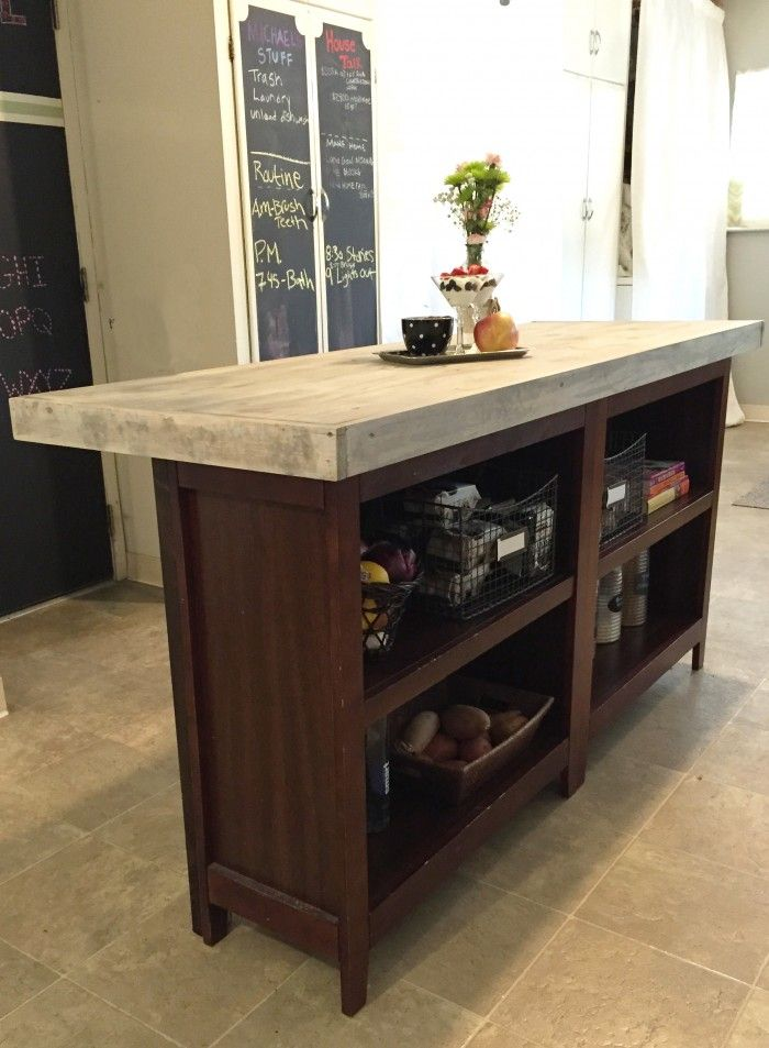 DIY Kitchen Island From Bookcases More