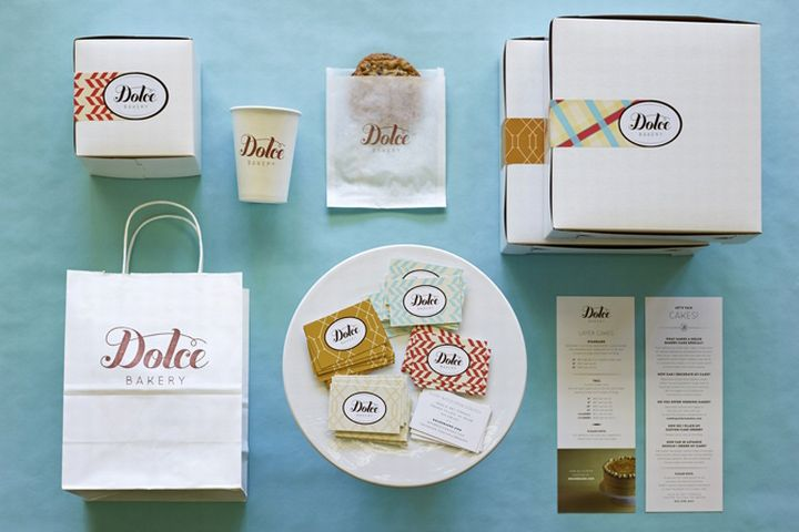 Dolce Bakery branding by Stir and Enjoy