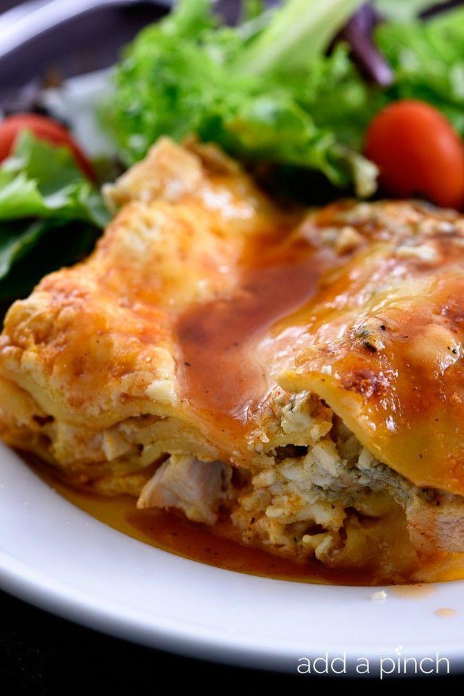 Buffalo Chicken Lasagna combines two favorite dishes in one - buffalo chicken and lasagna!