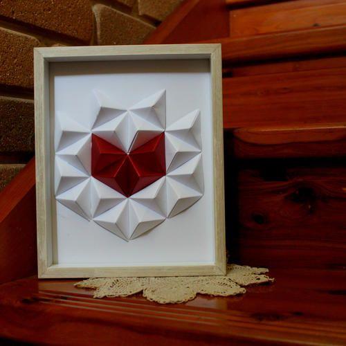 Geometric Wall Art - Paper Heart
