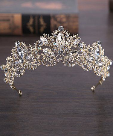 089d75ef7436 Silvertone Foliage   Marquise-Cut Rhinestone Tiara Headband  zulilyfinds