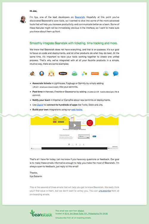 Designing a modern email