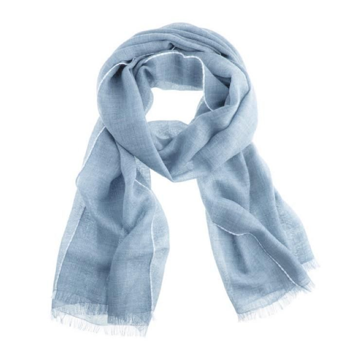 Lightweight Baby Alpaca Scarf, Blue: Handmade in Peru soft sophisticated cozy warm Global Goods Partners