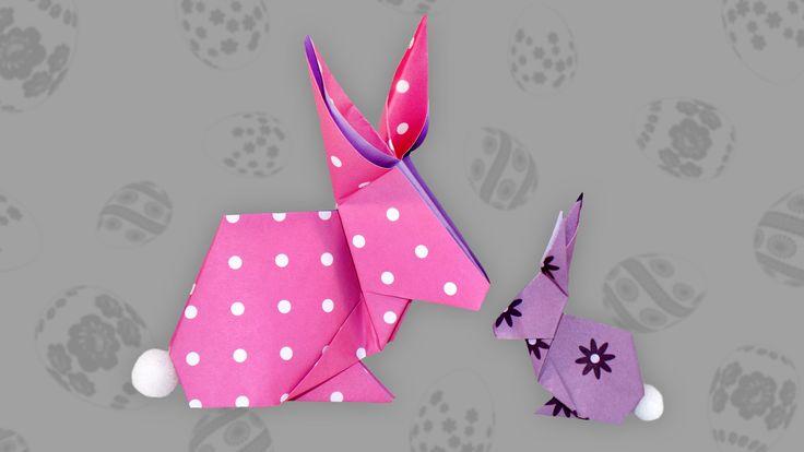 Dieser Origami Hase ist ein mittelschweres Origami-Motiv, welches aus nur einem Stück Papier besteht. Im Video verwende ich für den dreidimensionalen Hasen e...