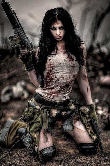 Dieselpunk Zombie Slayer Girl by Alba Tross