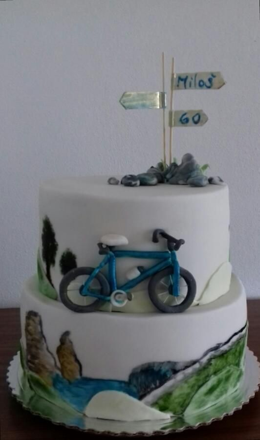 Bicycle cake  by Ellyys