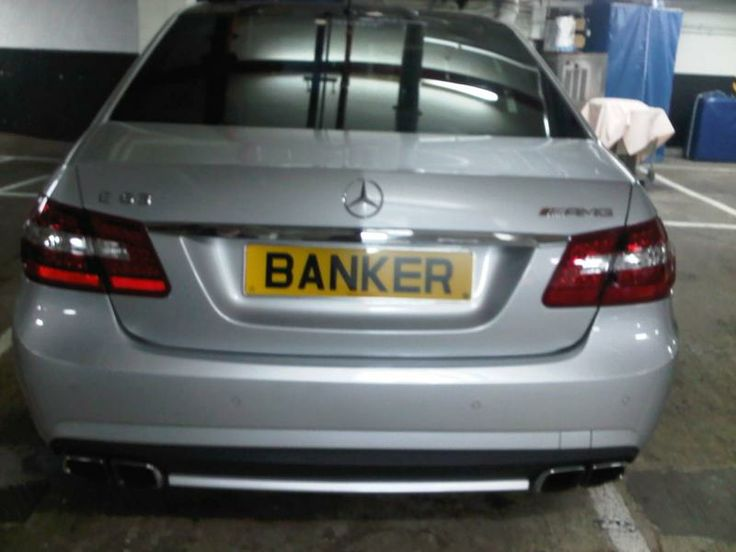 Expensive Banker Number Plate  www.Premier-Number-Plate.co.uk