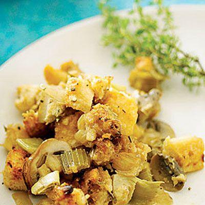 Side Dishes: Artichoke Parmesan Sourdough Stuffing