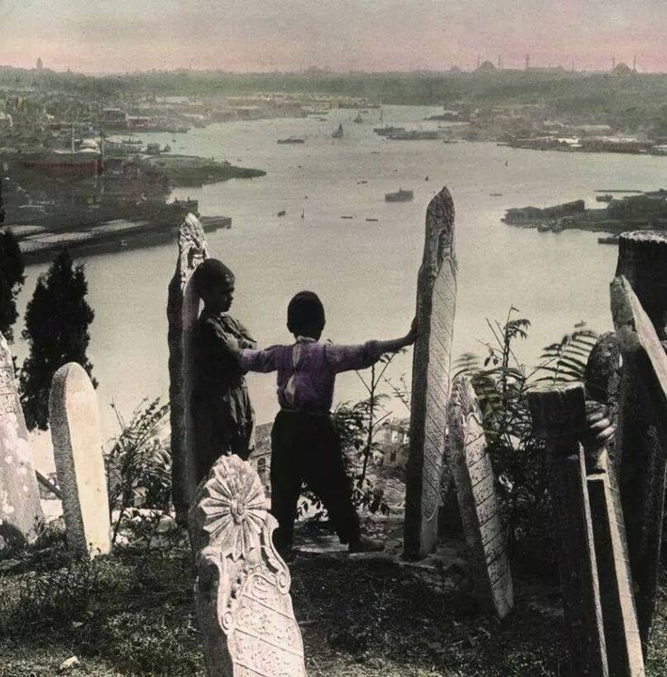 Piyer Loti Tepesi'nden Haliç'e bakış 1900 başları