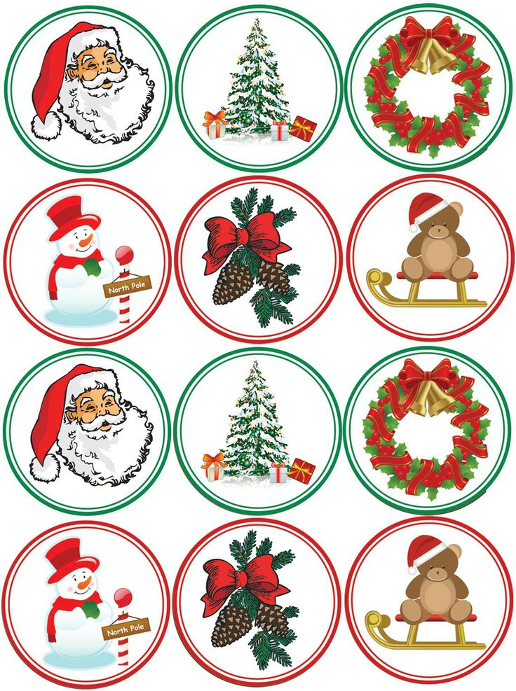 Another Printable Sheet Of Christmas Images