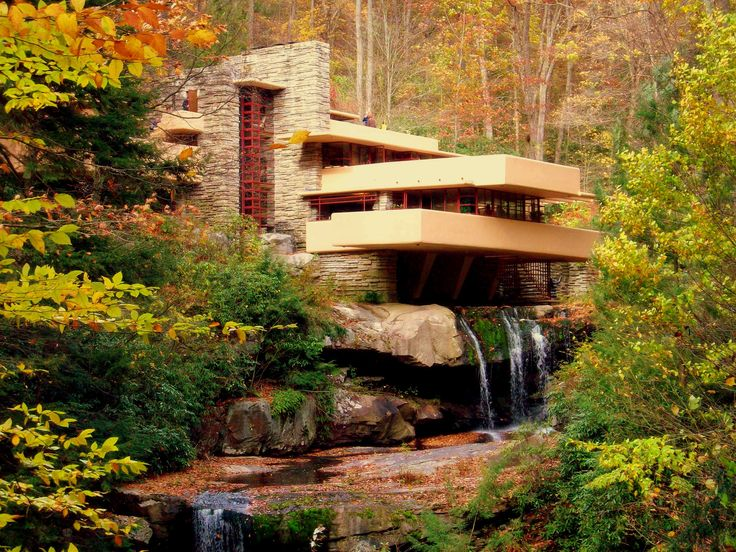 Architecture Frank Lloyd Wright Falling Water House Viewing Gallery Surprisingly Falling Waters Frank Lloyd Wright Water Falls. Falling Wate...