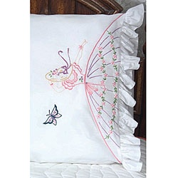 @Overstock - Get creative with embroidered pillowcasesNeedlework kit features a Southern belle and butterfly design  Set includes two stamped pillowcases, instructions and floss suggestionshttp://www.overstock.com/Crafts-Sewing/Colonial-Lady-Stamped-Embroidery-Pillowcase/3344084/product.html?CID=214117 $10.88