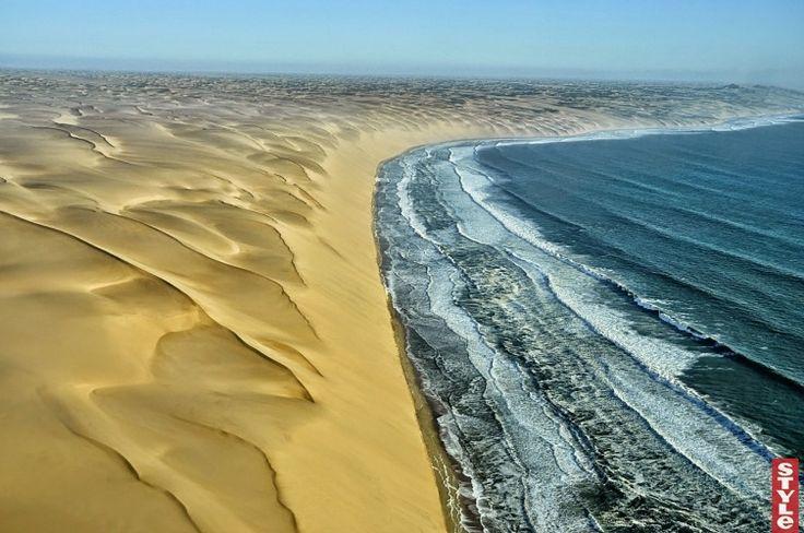 Встреча двух противоположностей: пустыня Намиб и Атлантический океан
