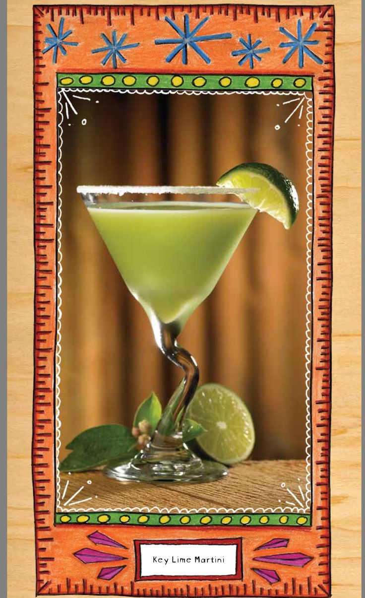 Copycat Lucille's Key Lime Martini 1 part Pinnacle Key Lime Whipped Vodka 1.5 part KeKe Beach Key Lime Liquor 0.5 part Midori  1 part each Pineapple juice and Lemonade Squeeze of lime and sugared rim
