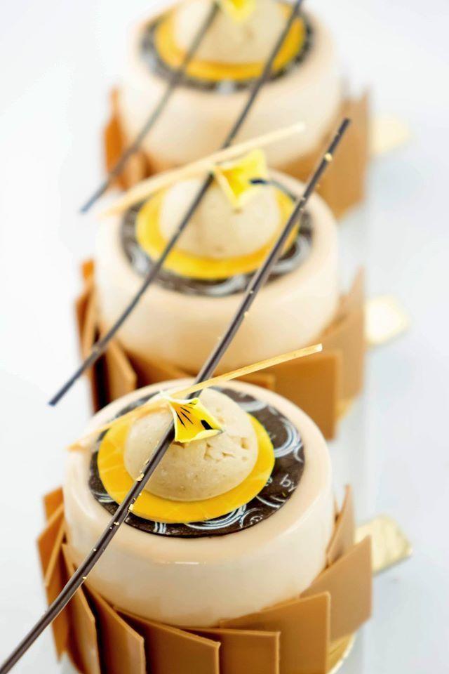 Petit gâteau marron / mandarine   Création By Cecile