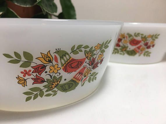 Two Arcopal Veronica Milk Glass Bowls.
