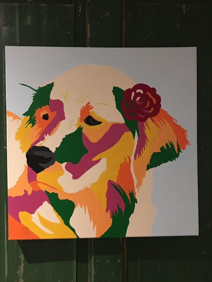 Schilderij Roos