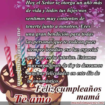 Imagenes De Feliz Cumpleaños Mamá Con Frases Bonitas - Mundo Imagenes Frases Actuales