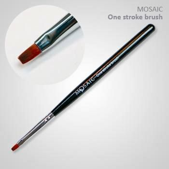 High quality mixture of synthetic & natural hair. Designed especially for one-stroke technique. Brush is a slightly rounded square.