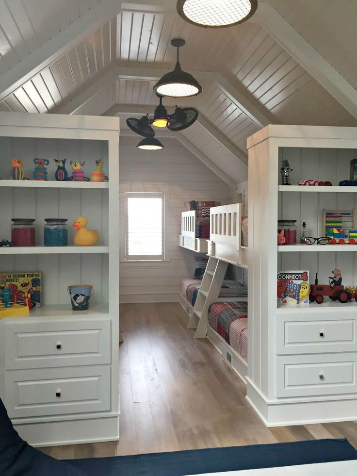 We have so much room down there we could do like a bunk room with these built ins and create a second dressing or play area in the bunk room.