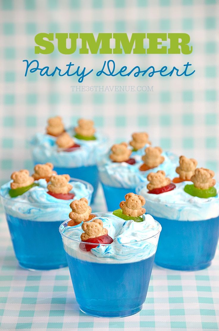 Summer Dessert- This fun and delicious Jello Dessert is perfect for pool parties and birthdays. This summer dessert is fun to make and fun to eat.