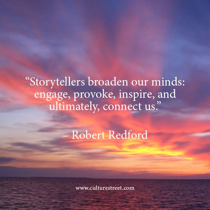 Robert Redford on storytelling and inspiration.