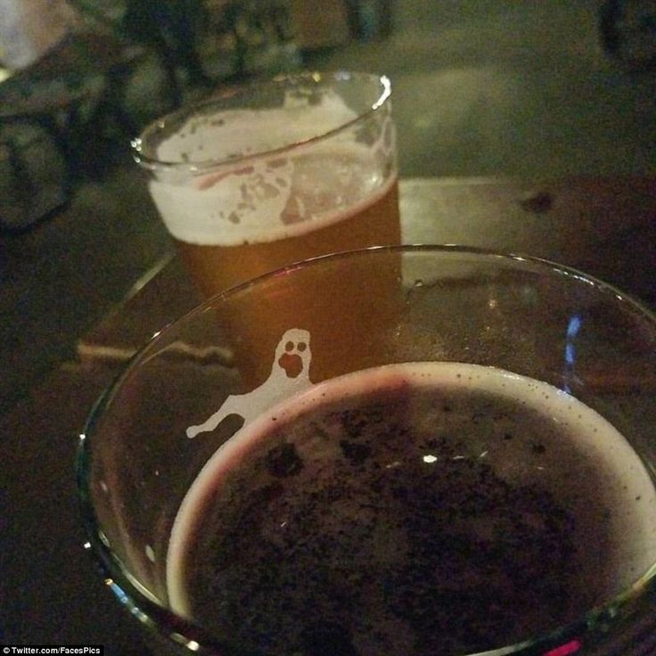 Freaky foam! One person found a ghost in their cider and blackcurrant as they drank it in ...