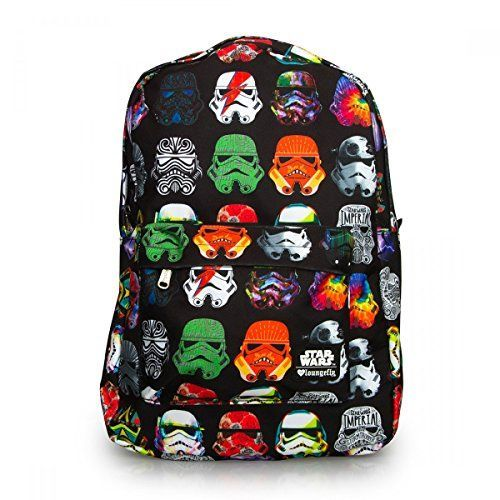 nice Loungefly Star Wars Multi Colored Stormtrooper Backpack (Black/Multi)